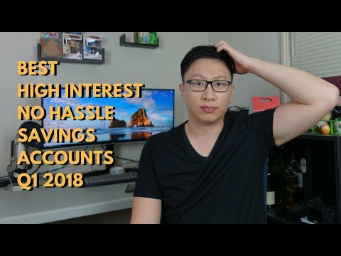 Best High Interest No Hassle Savings Accounts Q1 2018