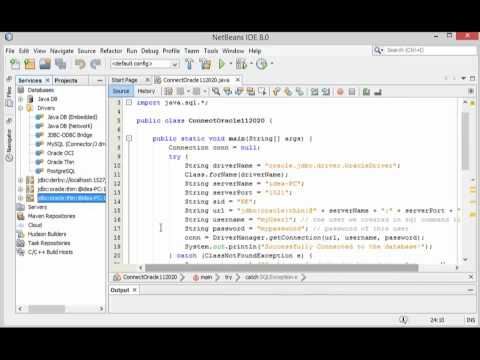 Connect Netbeans IDE 8.0 to Oracle Step By Step