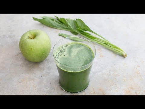 Beautiful Skin with Green Apple Spinach Detox Juice