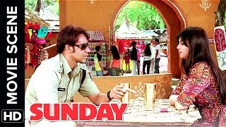 Ajay Devgn takes Ayesha Takia on a Date | Sunday | Movie Scene | Comedy