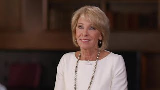 """Betsy DeVos pushes back against criticism over """"60 Minutes"""" interview"""