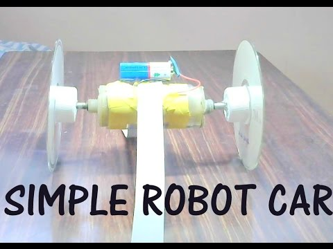 How To Make Simple Robot Car For Kids-easy project