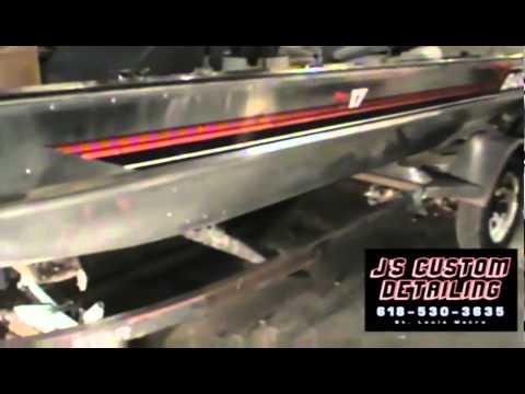Mirror Shine on 1990 Bass Tracker Pro17 Aluminum Boat J's Custom Detailing 618-530-3635