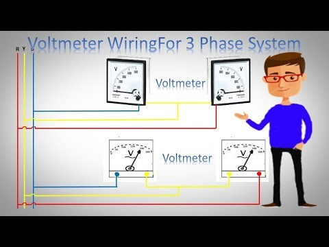 Voltmeter Wiring For 3 Phase System    3 Phase Voltmeter Installation  by Earthbondhon