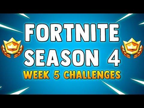 FORTNITE SEASON 4 WEEK 5 CHALLENGES - Fortnite Battle Pass Week 5 Season 4 Challenges LEAKED