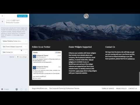 Corporate WordPress Theme: Setting Widgets (Step 8)
