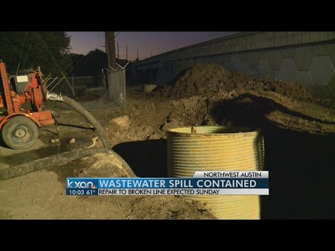 Crews cleanup 100,000 gallons of wastewater in NW Austin