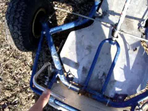 My homemade gokart with 125 pitbike shifter engine