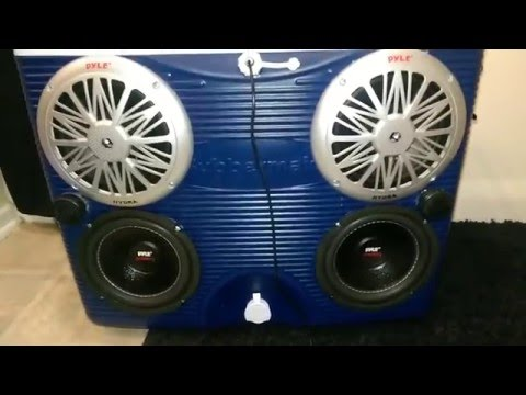 Finished Best Stereo cooler ice chest radio cooler river stereo Pyle 4 How to