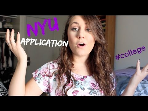 NYU (Tisch) Application Process! | College Life
