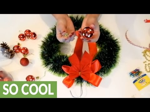 DIY easy Christmas wreaths