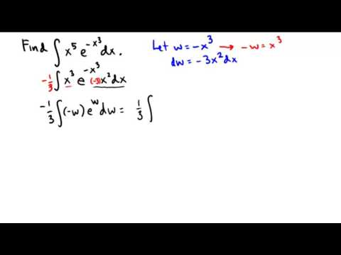 Integration by parts with a pre substitution