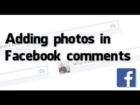 How to add photos in Facebook comments