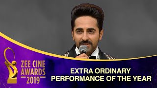 Ayushmann Khurrana is in the LEAGUE! Extra Ordinary Performance of the Year   Zee Cine Awards 2019