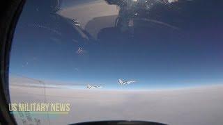 Watch an F-15 intercept a Russian Navy SU-30 in Europe