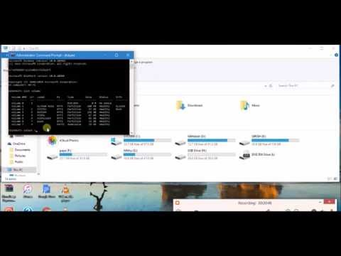 How to format any drive using command prompt!!
