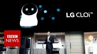 CES 2018: Robot refuses to co-operate with LG chief - BBC News