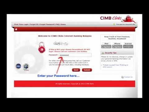 Online Direct Payment: CIMB to MAYBANK.wmv