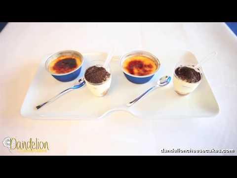 Miniature Creme Brulee & Tiramisu Cheesecakes at Dandelion Cheesecakes