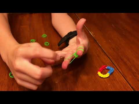 How To Make Thick Rainbow Rubber Band Bracelets Without A Loom