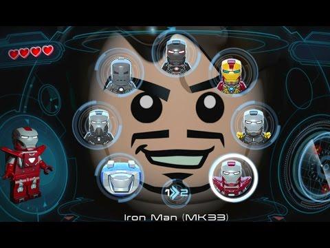 LEGO Marvel's Avengers (Vita) - All Playable Iron Man Suits Unlocked (Showcase)