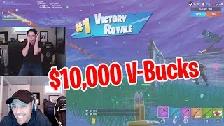 WINNER GETS $10,000 V-BUCKS - CHALLENGE vs MY DAD!!
