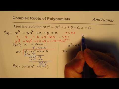 Find Complex Roots of a Cubic Equation