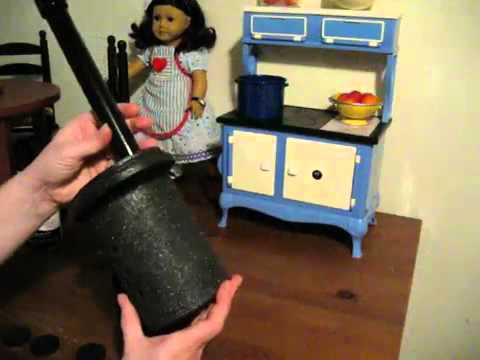 How to make an American Girl stove (Addy)