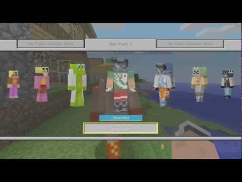 SKIN PACK 1 DLC! HEROBRINE, MASTER CHIEF & MORE! Minecraft Xbox Edition DLC Preview!