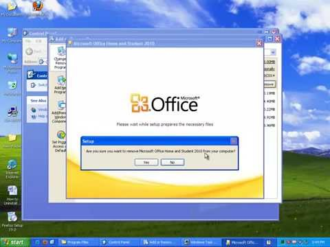 How to Uninstall Microsoft Office 2010 on Windows XP?