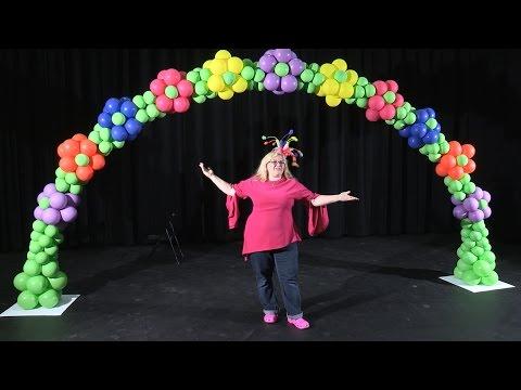 Balloon Arch in a Flower Pattern ~ DIY Tutorial