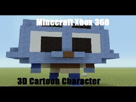 Minecraft Xbox 360 - 3D Cartoon Character Tutorial
