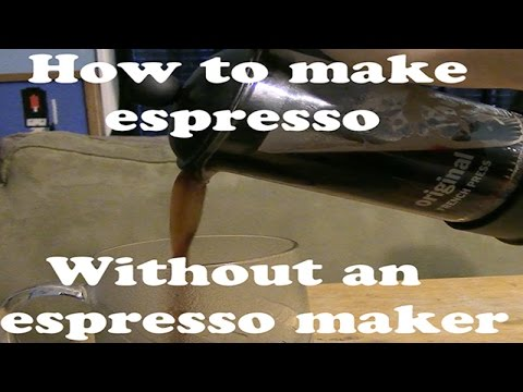 How to make a faux espresso at home without an espresso maker!