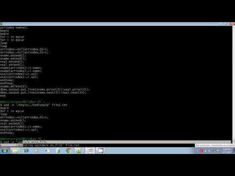 Unix shell scripting sed command case insensitive calling subprogram part 6