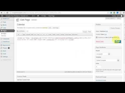 How to Embed a Google Calendar in WordPress