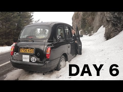 Taxi trip day 6 - We got stuck in the mountains! - Birmingham to Bucharest