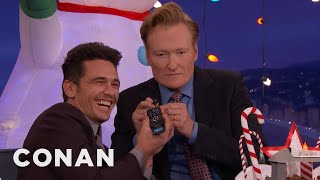 """James Franco Answers """"The Disaster Artist"""" Phone Number  - CONAN on TBS"""