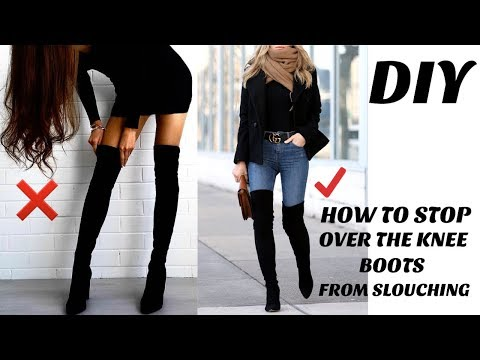 DIY:How To Keep Your Over The Knee Boots From Falling/Slouching/ Elastic Replacement Method/Under $2