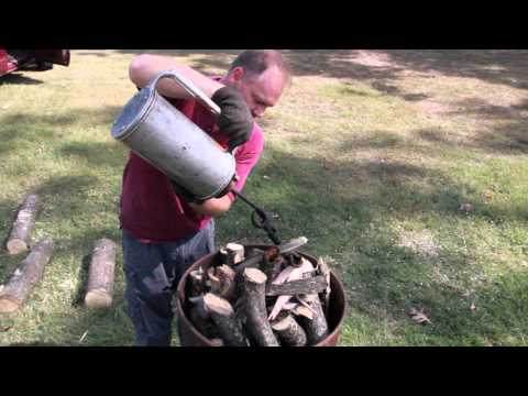Producing Charcoal with a Barrel Kiln