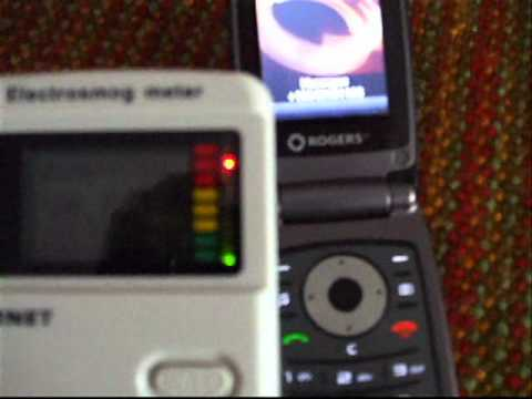 Cell phone RF radiation test meter readings are
