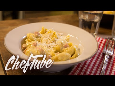 How to Make Tortellini with Ham and Cream - Recipe in description