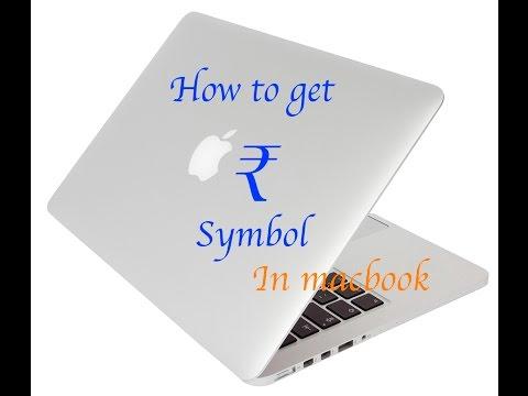 How to type Indian Rupee symbol in macbook