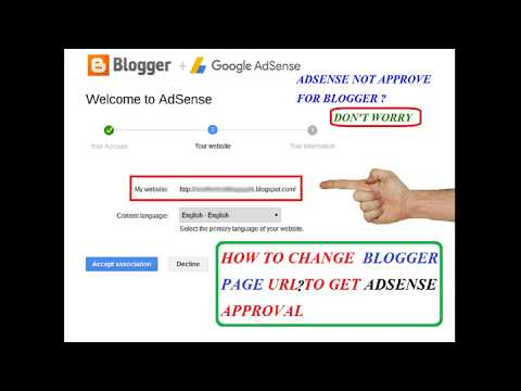 How to Change Blogger URL link to Get Adsense Approval / Change Blogger Gmail Account