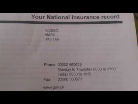 Helpful information - National Insurance records