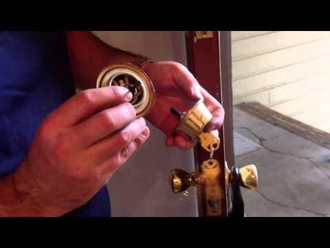 Double cylinder kwikset deadbolt