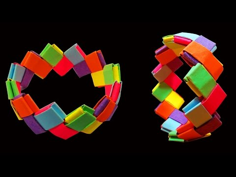 How To Make A Beautiful Origami Bracelet - HD