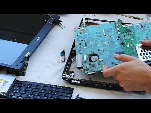 Acer Extensa 5630 Laptop Disassembly video, take a part, how to open