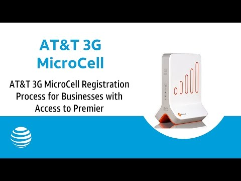 AT&T 3G MicroCell Registration Process for Businesses with Access to Premier