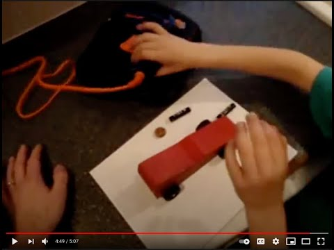 A Pinewood Derby Car built in 5 minutes!