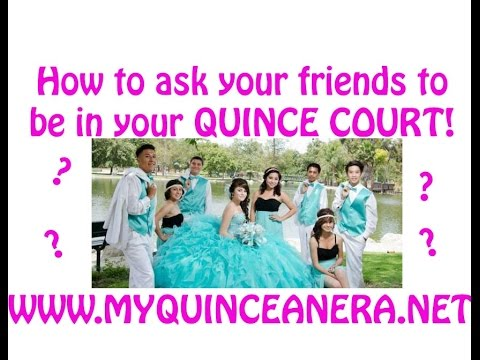 DIY Quinceanera Court Invites: How to ask your quince court!